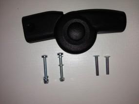 Schiebergelenk 20/20 mm, Gelenk für Teutonia li. oder re.Seite Kinderwagen mit Verstärkung
