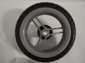 Hinterrad, Rad für Herlag Sport- und Kinderwagen Hummer Farbe: silber