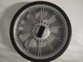 Rad 50 (290mm), Rad, Hinterrad für Teutonia Kinderwagen mit Handbremse - grauer Bremskranz
