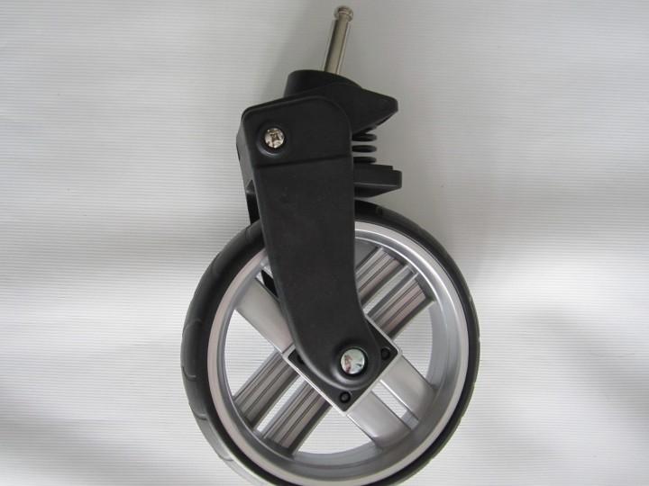Vorderrad, Rad für Babywelt Kinderwagen, Booster+, Viva mit Feder linke und rechte Seite