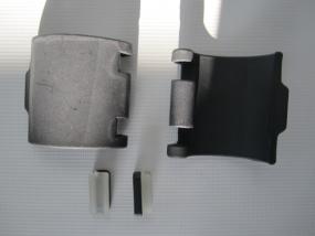 Set Höhenverstellung,Teleskopverstellung mit Bremsstempel für Gesslein Kinderwagen Future, F1, F2