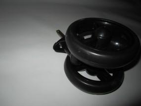 Vorderrad, Vorderradblock, Block für Babywelt Buggy Moon Fit und Flic bis 2012 Farbe: schwarz