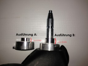 Gesslein Vorderrad für Buggy S4 und Kinderwagen F4 Ausführung: A, Farbe: silber