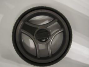 Rad 60,Felge schwarz / noir (250mm), Rad, Hinterrad (groß) für Teutonia Cosmo ohne Handbremse