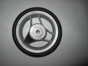 Rad 60 (190mm Durchmesser), Rad, Vorderrad (klein) Teutonia Kinderwagen silber