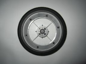 Rad, Hinterrad, Windowfelge, Windowrad für Hartan VIP, VIP XL , RS One , Topline X - Farbe: silber