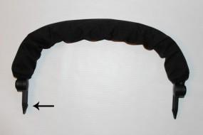 Schutzbügel, Spielbügel inkl. Bezug Gesslein Sport/Kinderwagen F-und M-Serie : schwarz - Keil innen