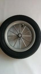 Rad, 12 1/2 x 2 1/4 Luftrad mit 8 Bremszacken für Hartan Kinderwagen Topline CL Farbe: silber