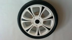 Rad, Trendfelge, Hinterrad mit Handbremse Hartan Racer S/GT/ Plus, ZXII,R1 Farbe: weiß