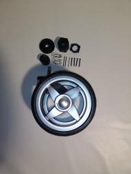 ABC 3Tec Radblock, Vorderradblock inkl. Radbuchse für Vorderradaufnahme Farbe: silber