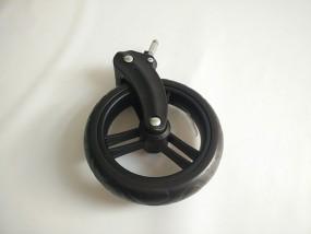 ABC Zoom Geschwisterwagen Set Vorderrad / Vorderräder mit Gabel - Farbe: schwarz