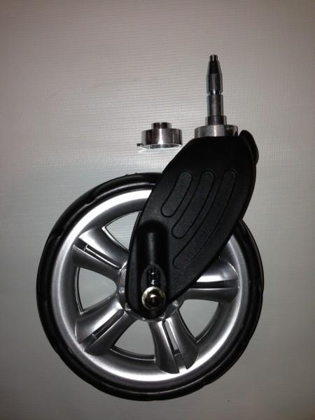 Gesslein Vorderrad für Buggy S4, Kinderwagen F4 u.M4 Ausführung: B, Farbe: silber