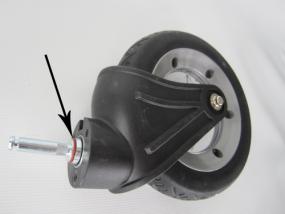 Rad, Vorderrad mit Gabel für Hartan Kinderwagen VIP, neue Version Farbe: silber