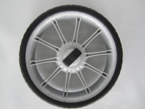 Rad 50 (250mm) silber für Teutonia Fun, Cosmo, Lambda u.s.w. - ohne Handbremse