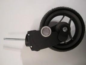 Vorderradgabel, Gabel, Federgabel inkl Rad 60 f.Teutonia Kinderwagen Cosmo und BeYou, Felge noir