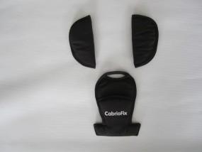 Ein Paar Gurtpolster, Schulterpolster, Bezug für Sicherheitsgurt vom Maxi-Cosi CabrioFix schwarz