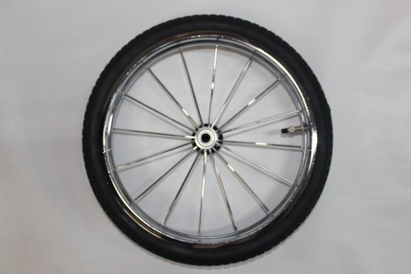1 x Rad 47 (14 Zoll, ca. 36,0 cm Gesamtdurchmesser), Luftrad, Chromfelge - ohne Bremskranz - für Teutonia Élégance