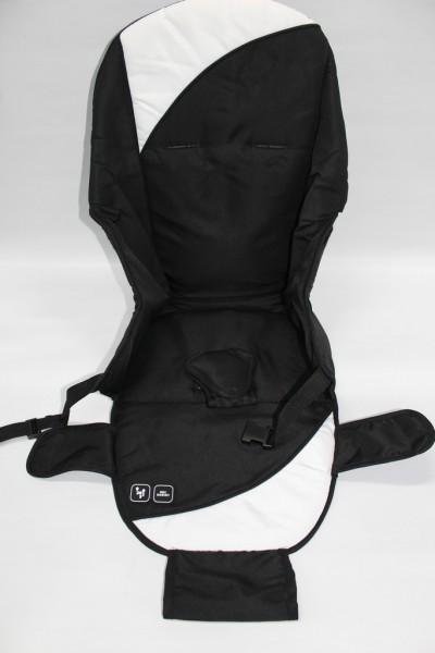ABC Sitzeinhang, Stoffbezug für Sportwagenaufsatz Cobra, Mamba, Zoom, Condor - granit, schwarz