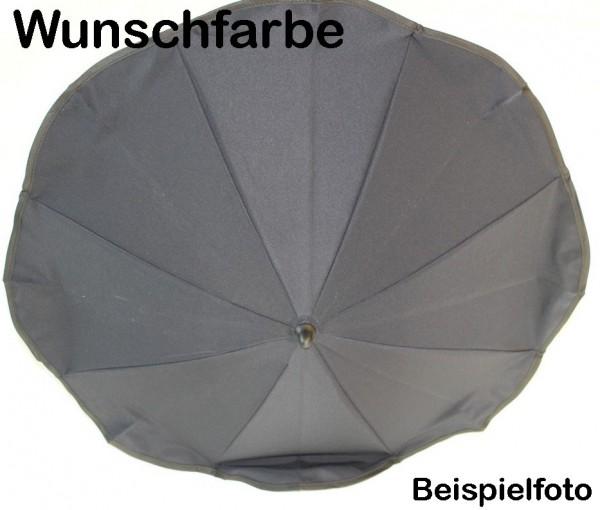 1x Original Hesba Sonnenschirm, Schirm inkl. Halterung - Farbe: Wunschfarbe - auch passend für Hartan, Teutonia, Emmaljunga und viele andere Gestelle