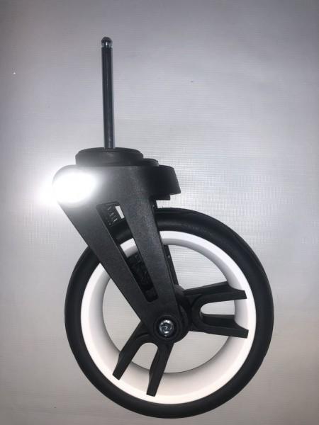 1 x Vorderradgabel, Federgabel inkl. Rad 3 für Teutonia Cosmo, BeYou, BeYou Elite, Bliss, Liv, Fenix - weiß