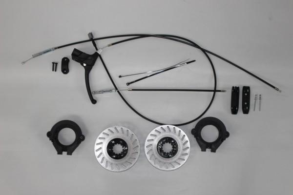 1x Hartan Racer GT und R1 Nachrüstset, Nachrüstsatz für Crossrad für den Umbau zum Kinderwagen mit Handbremse alt bis 2019 - Abbildung ähnlich