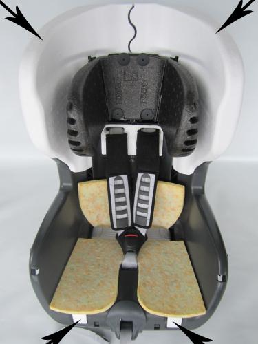 Römer Styropor Dämpfungseinleger Seiteneinleger für King Plus, Safefix Plus, Safefix TT