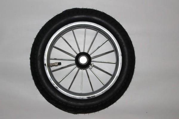 1x Rad, Luftrad 12 Zoll = ca. 29,5 cm Gesamtdurchmesser - Alternative - für Emmaljunga Edge Duo Combi Classic, Mondial Duo Combi, Smart Duo Combi