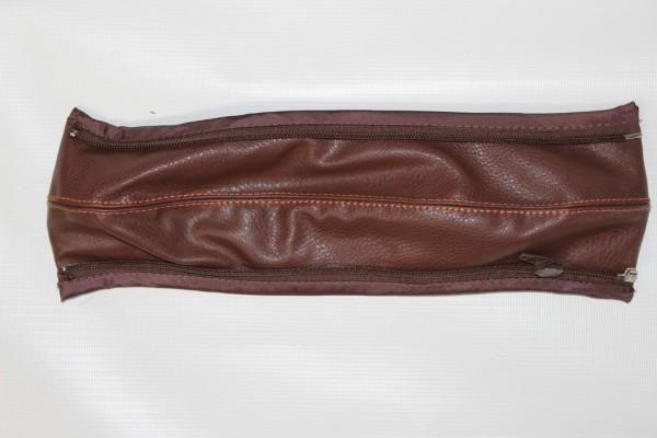 Moon Kiss, Flic, Flac Schutzbügelbezug, Bezug für Herausfallschutz - Kunstleder - braun, orange Naht