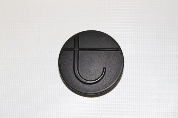 1 x BeYou und BeYou Elite Kappe, Abdeckkappe, Logo für Zentralgelenk am Untergestell - Farbe: schwarz