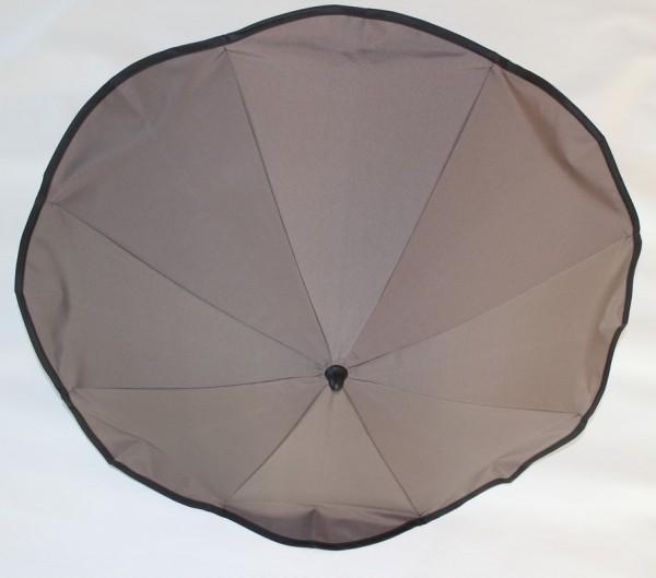 1x Original Hesba Sonnenschirm, Schirm inkl. Halterung - Farbe: schlamm, braun (894) - auch passend für Hartan, Teutonia, Emmaljunga und viele andere Gestelle