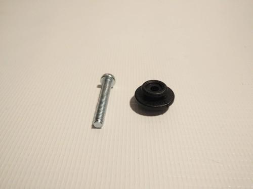 1 x Knopf, Druckknopf, Kunststoffmutter u. Schraube für Befestigung am Verdeckhalter, Verdeckgelenk 2007 - 2015
