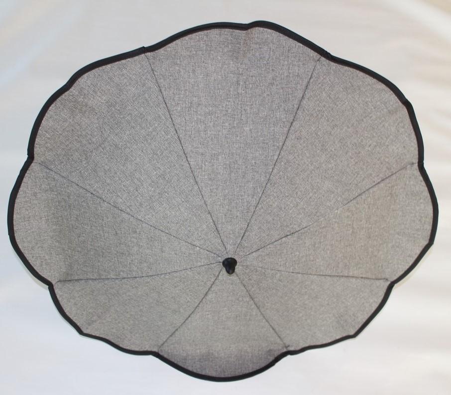 1x original hesba sonnenschirm schirm inkl halterung farbe grau hellgrau 785 auch. Black Bedroom Furniture Sets. Home Design Ideas