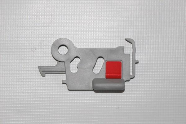 1 x Teutonia Drückerplatte für Arretierung, Halterung vom Sport- und Kinderwagenaufsatz BeYou, Mistral, Cosmo, Fun, Quadro, usw. - Ausführung B