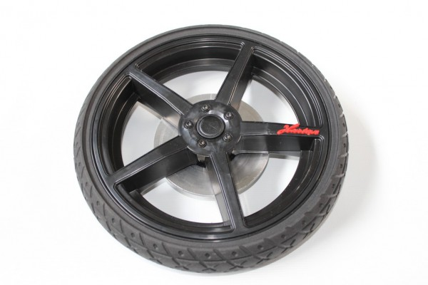 1 x Solight Ecco Rad, Hinterrad, Cross für Hartan Topline S/X, Racer GT, Sky, Xperia, ZXII mit Handbremse - ab 2014 - schwarz - Abb. ähnlich