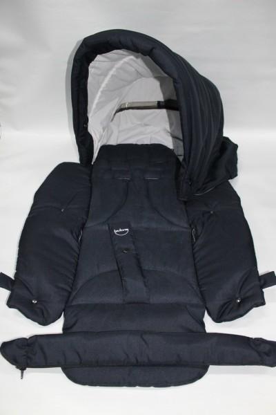 Teutonia Elegance (u.andere) Set Verdeck, Sitzeinhang, Sitzbezug, Schutzbügelbezug - einfarbig blau
