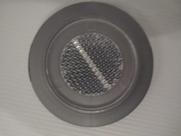 1x Reflektor, Katzenauge, Abdeckkappe für Teutonia BeYou mit grauer Kunststoffeinfassung