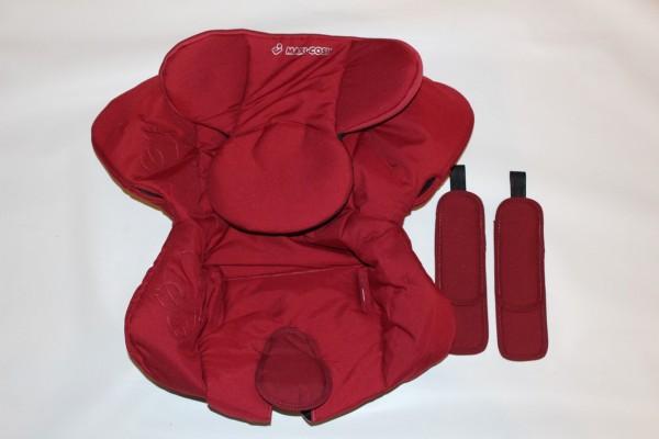 1 x Maxi-Cosi Sitzbezug, Stoff, Bezug, Ersatzbezug, Sitzeinhang für Kinderautositz Axxis - raspberry red, rot